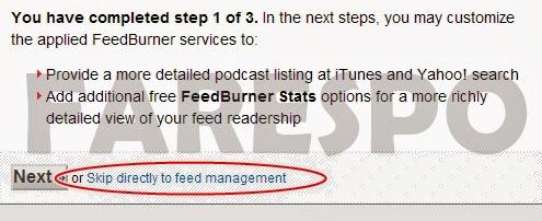 Cara Mendaftarkan Blog ke RSS Feedburner
