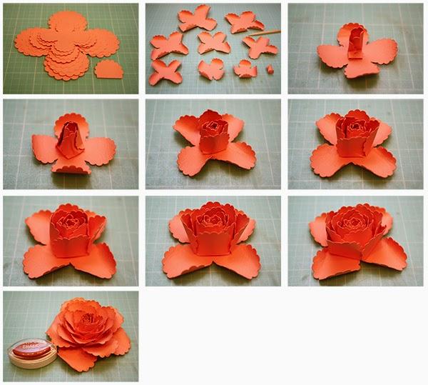 3d paper flower ukrandiffusion bits of paper 3d paper flowers mightylinksfo