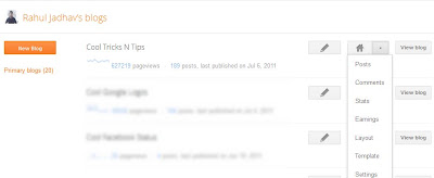 New Blogger Dashboard Design by Google