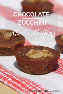 Chocolate Zucchini Muffins - perfect bite-sized picnic desserts!