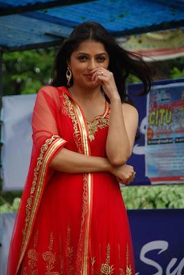 Bhoomika latest pics in red salwar