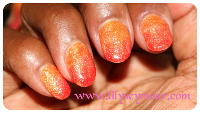 Orange and Gold Ombre using Julie G Nail Polish