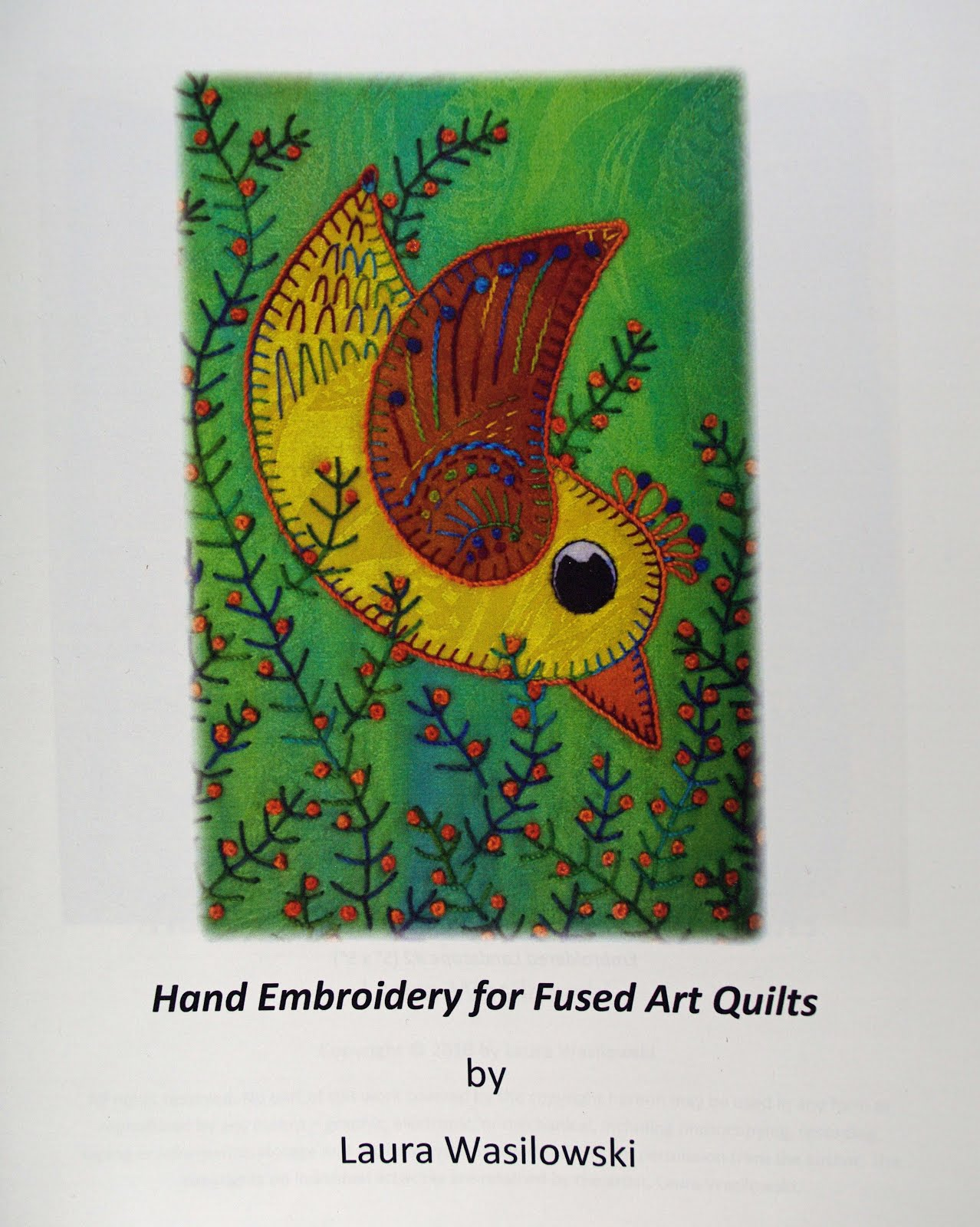 Book review hand embroidery for fused art quilts