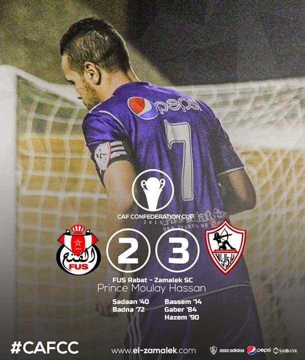 أهداف المباراة | الزمالك 3-2 الفتح المغربي|كأس الإتحاد الأفريقي 2015| إياب| دور الـ 16 - تعليق مغربي