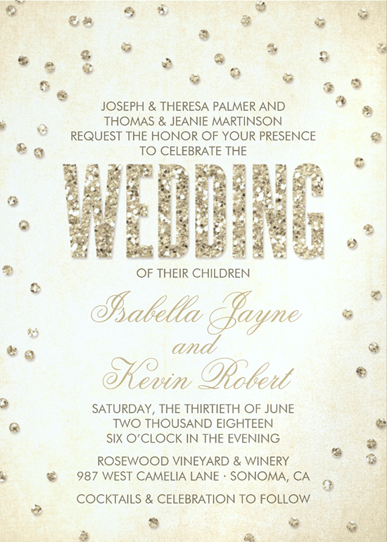 The life and designs of the spotted olive scheana marie of glitter look confetti wedding invitation design by the spotted olive stopboris Image collections