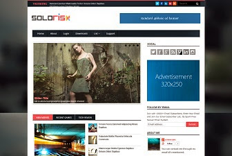 Solaris Blogger Template