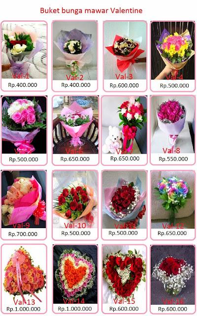 Buket bunga mawar valentine Jakarta.