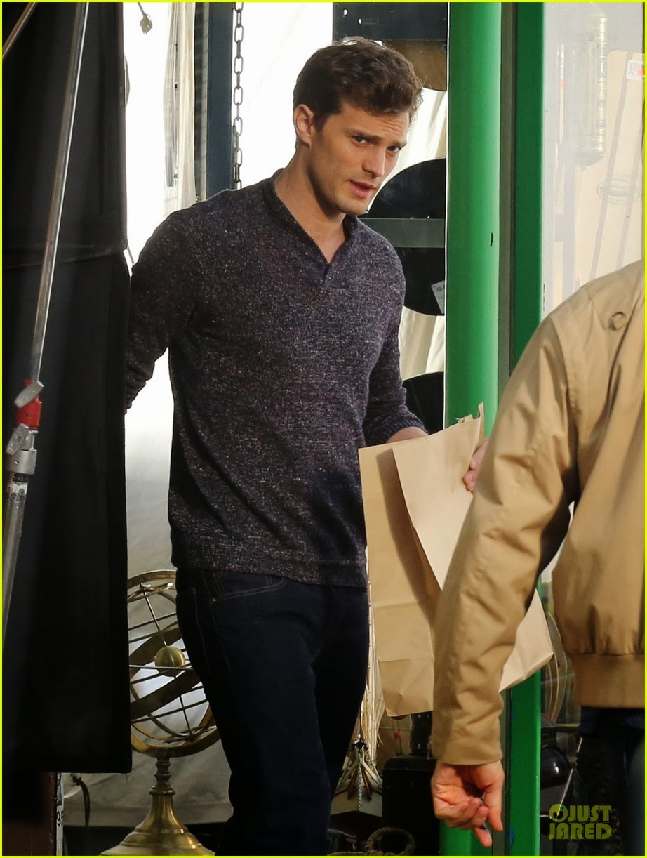 "Celeb Diary: Jamie Dornan filming scenes for ""Fifty Shades ..."