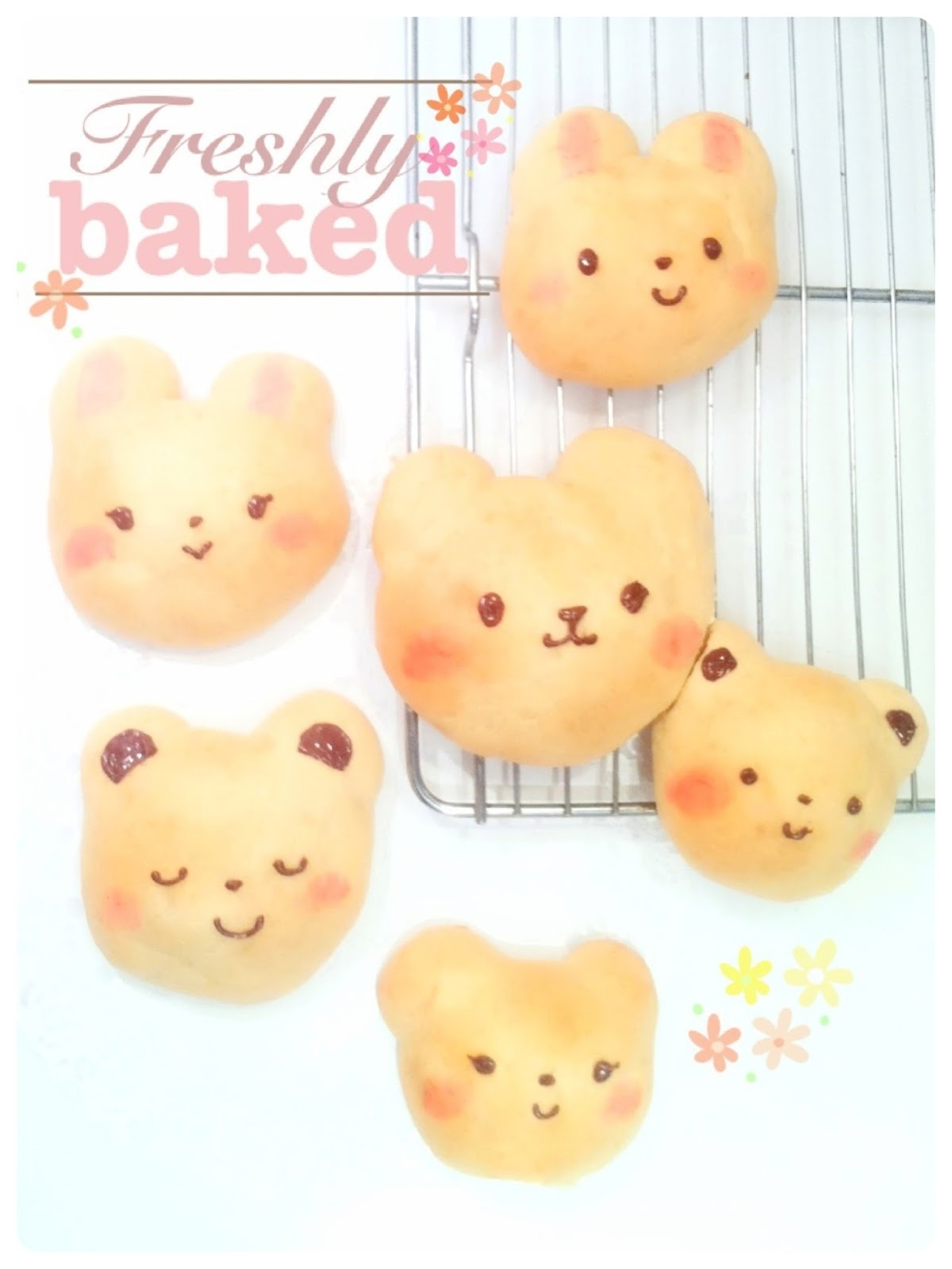 Cherie Kelly's Japanese Bear and Rabbit Soft Bread Bun