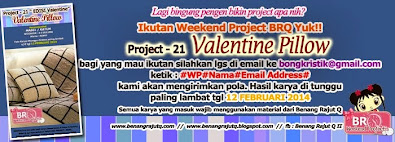 WEKKEND PROJECT BENANG RAJUT Q  - PROJECT 21 - Valentine Pillow