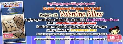 WEKKEND PROJECT BENANG RAJUT Q  - PROJECT 21 - Valentine Pillow