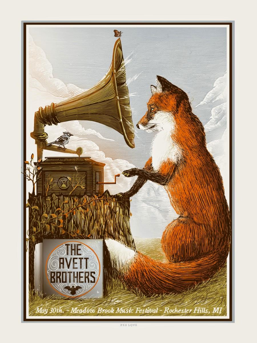 inside the rock poster frame blog  avett brothers