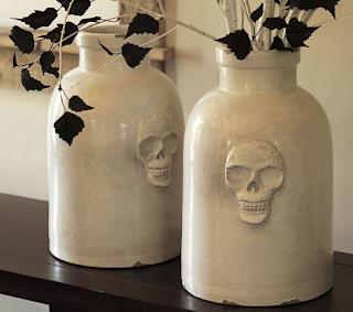 Skull Vase from Pattery Barn