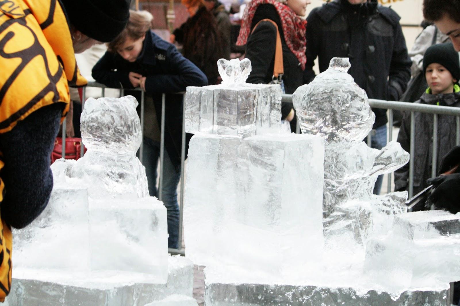 Sculpture sur Glace Noël Dijon