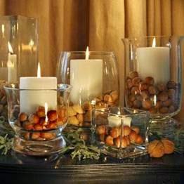 Ideias de decoração de mesa de Natal com velas
