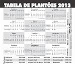 Tabela de Plantões das Farmácias