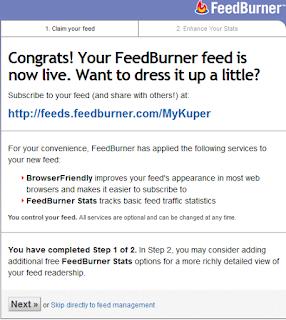 Cara Mudah Membuat FeedBurner diblogger Lengkap