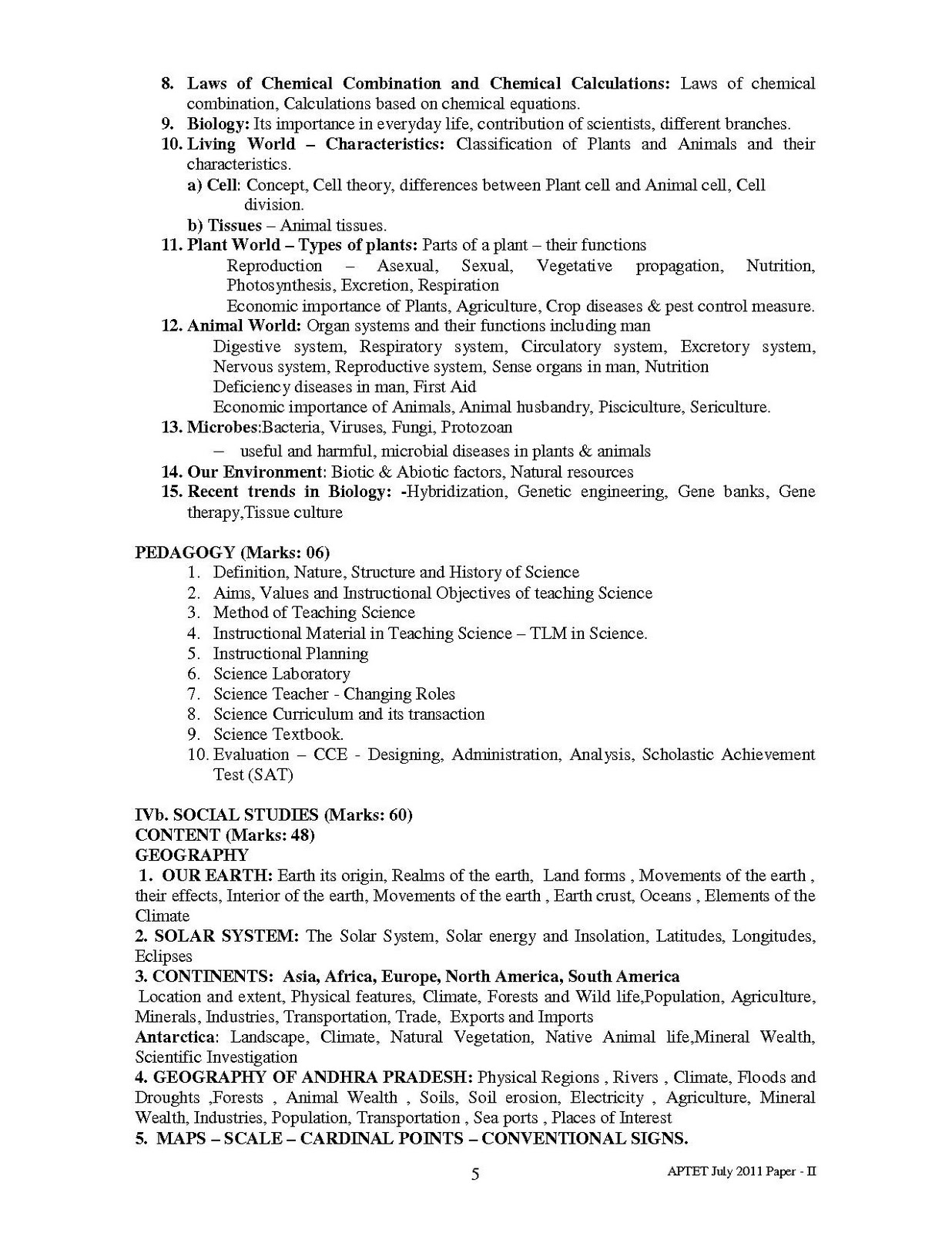 All Colleges information  Best Study Guidelines: TEACHER ELIGIBILITY TEST(APTET) SYLLABUS PAPER ...
