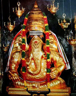 Ganesha idol of Karpaka Vinayakar Temple in Pillayarpatti, Tamil Nadu, India
