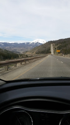 driving towards Vail, Coloardo