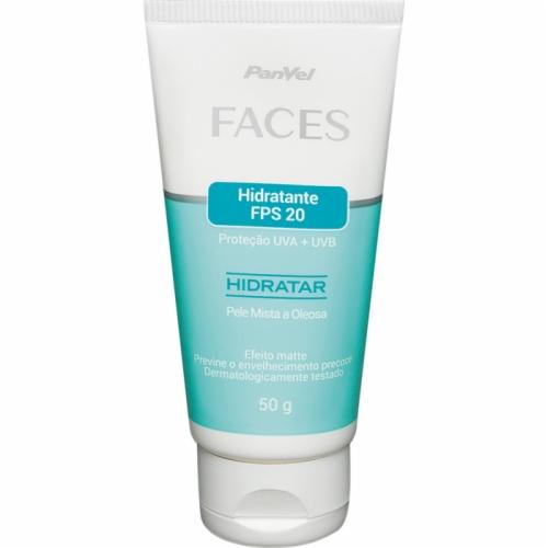 Hidratante Fps20 Panvel Faces Pele Mista A Oleosa 50g