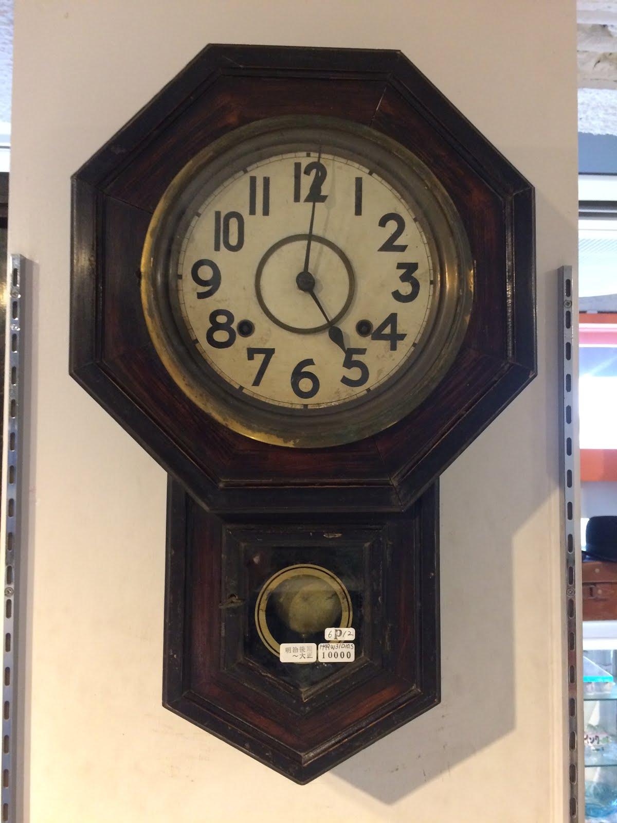 八角掛け時計※明治後期~大正