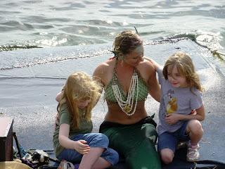 Children with Mermaid Child at Renaissance Festival in Deerfield Beach