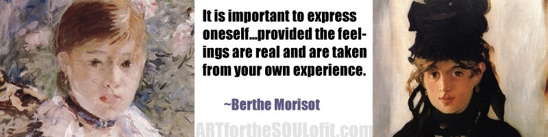 quote by berthe morisot it is important to express oneself...