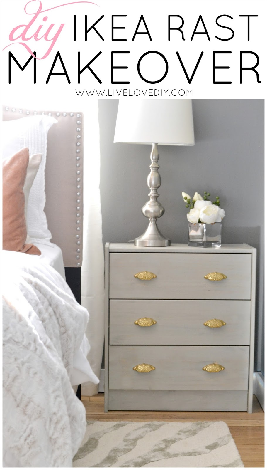 livelovediy diy ikea rast makeover with weathered gray wood stain. Black Bedroom Furniture Sets. Home Design Ideas