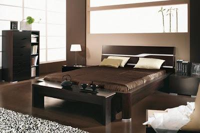 color chocolate en el dormitorio