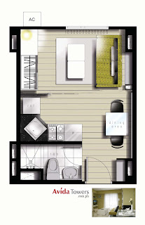 Avida Towers Makati West Studio Unit Plan