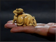 "NETSUKE ""Mouse on Mouse"""