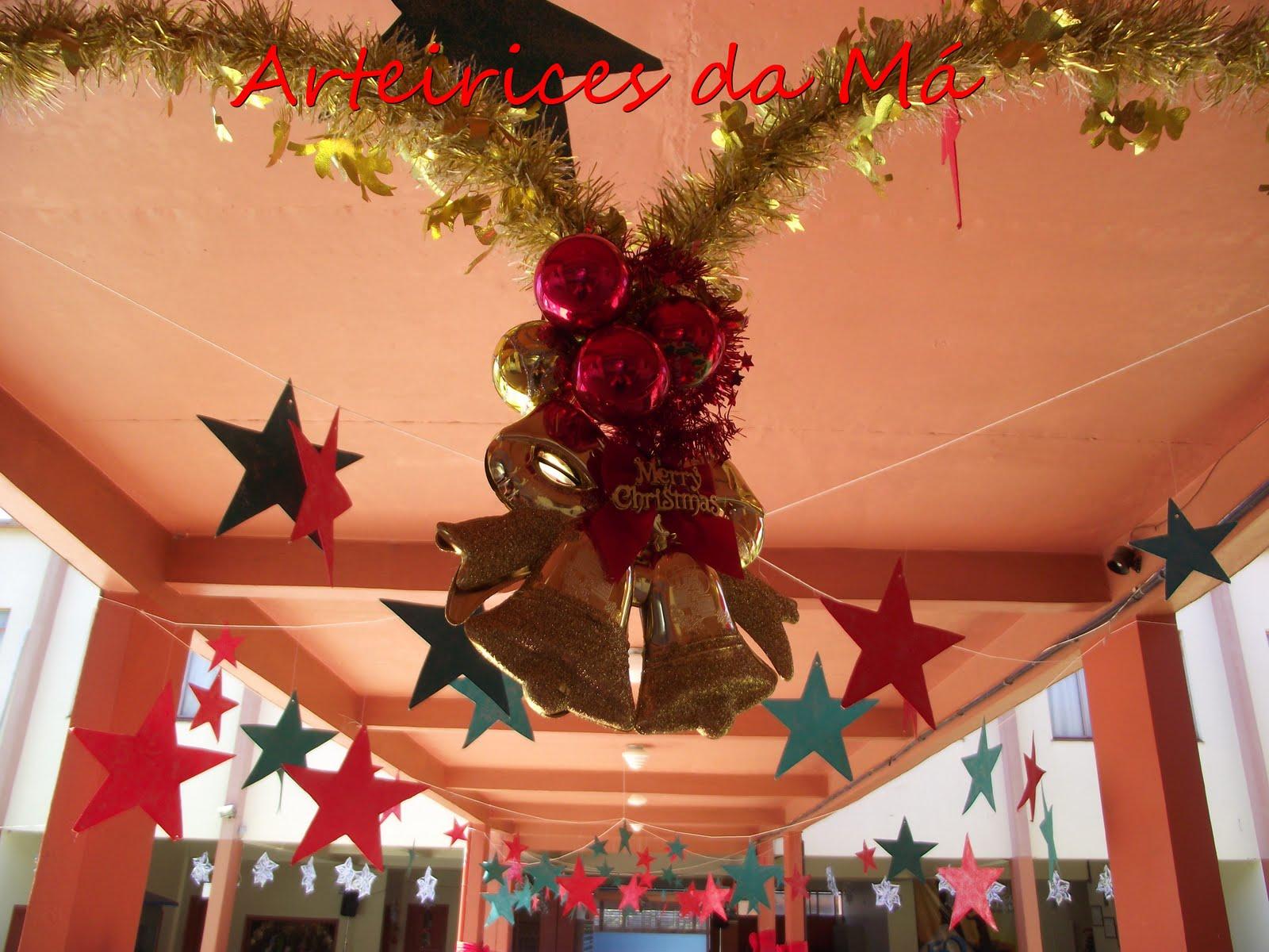 Arteirices da Má Decoraç u00e3o de Natal para o Encerramento do Ano, lá na Escola Vem ver como  # Decoração De Natal Simples Escola