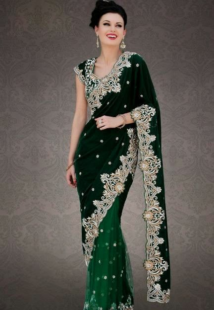 Latest Indian And Pakistani Sarees Designs Apni Fankari