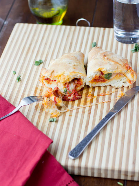 Roasted Tomato and Cheese Calzones ohsweetbasil.com