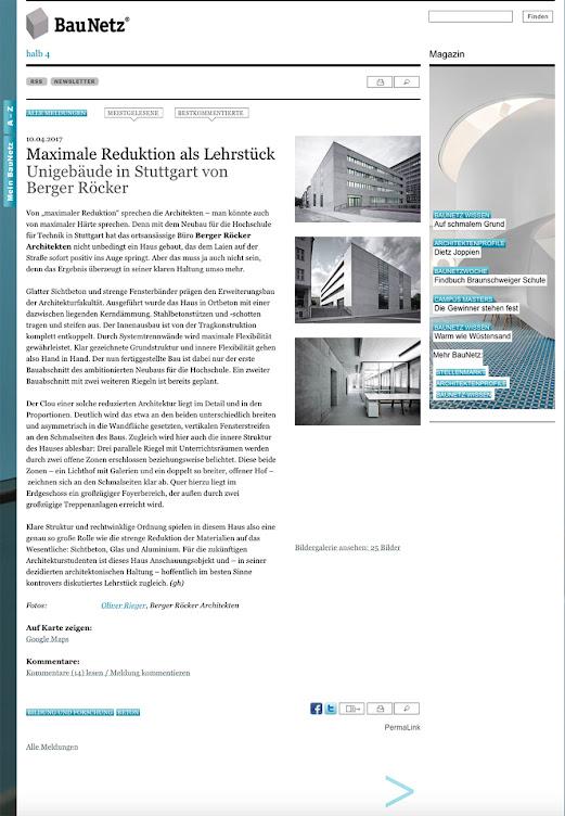 Baunetz 4/17 HFT Berger Röcker