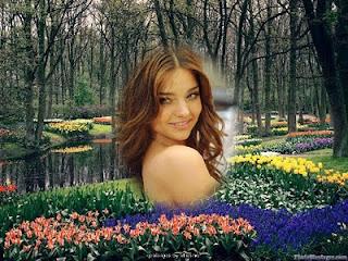 En este montaje de primavera podrás darle efectos a tus fotos