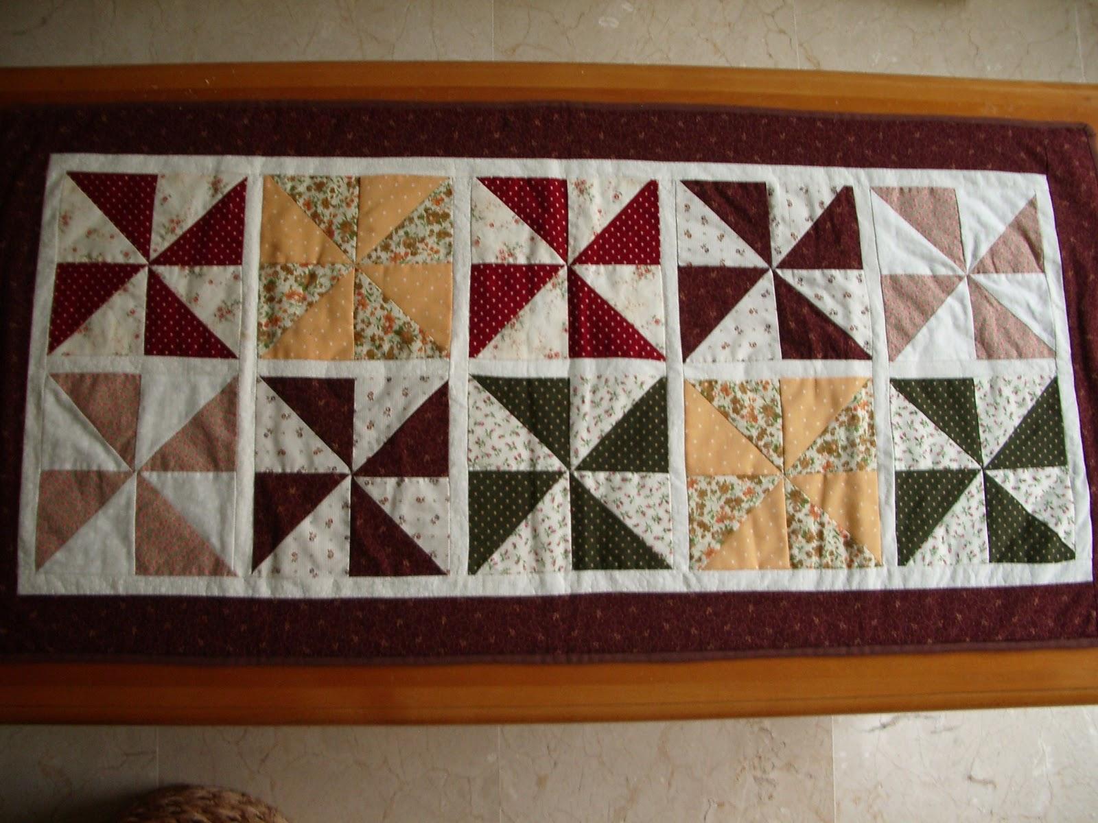 El costurero de chus camino de mesa molinillos - Camino mesa patchwork ...