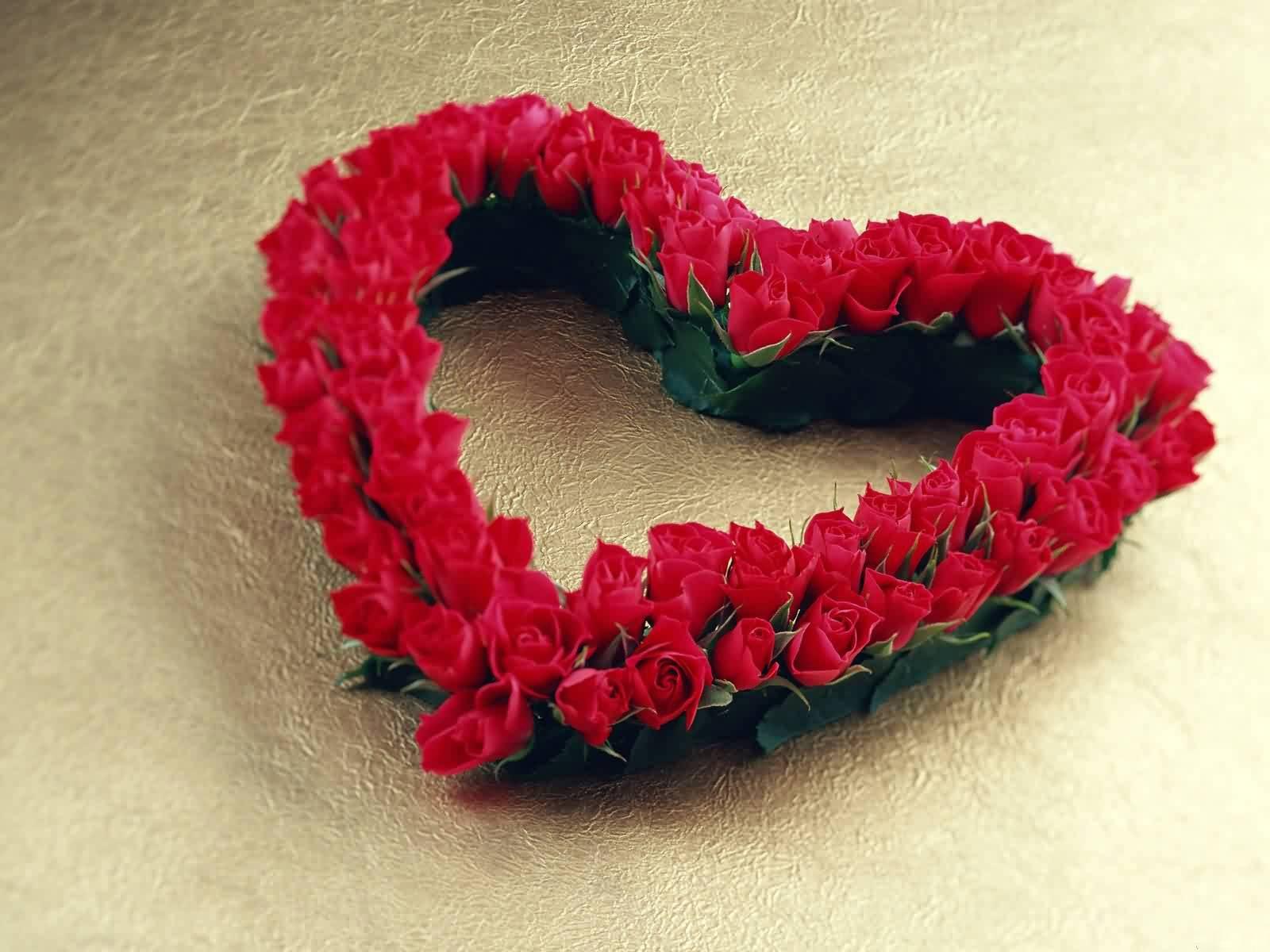 Red Rose Lovely heart