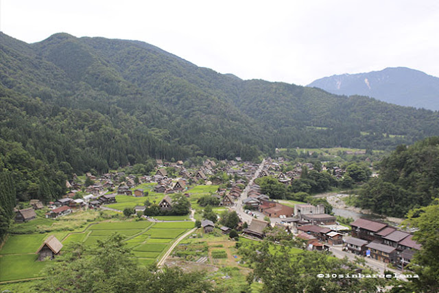 Famous view from Shirakawago's view point