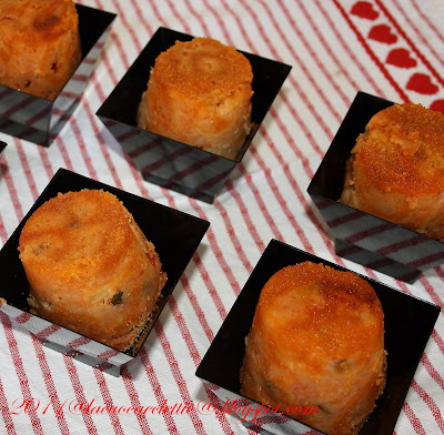 Timballini con zucchine e mozzarella