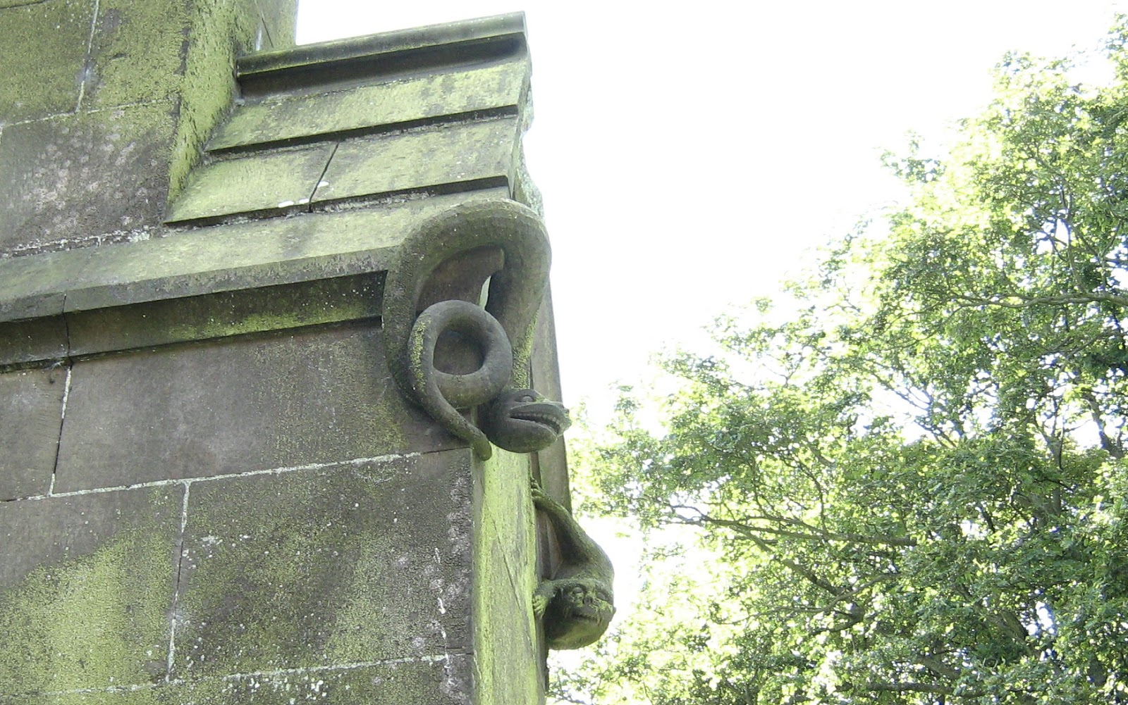 Carvings on Grindon Church