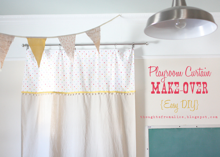 playroom curtain make easy diy a free chalkboard