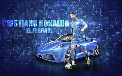 Cristiano Ronaldo New 2014 Wallpaper HD El Ferrari Blue Real Madrid Kit 2014