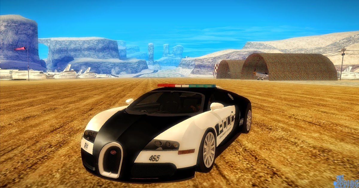 the modding prodigy nfs hot pursuit bugatti veyron 16 4 police car for gta s. Black Bedroom Furniture Sets. Home Design Ideas