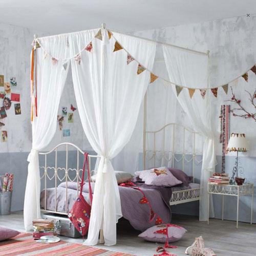 Alba hogar cama con dosel for Habitaciones de nina baratas