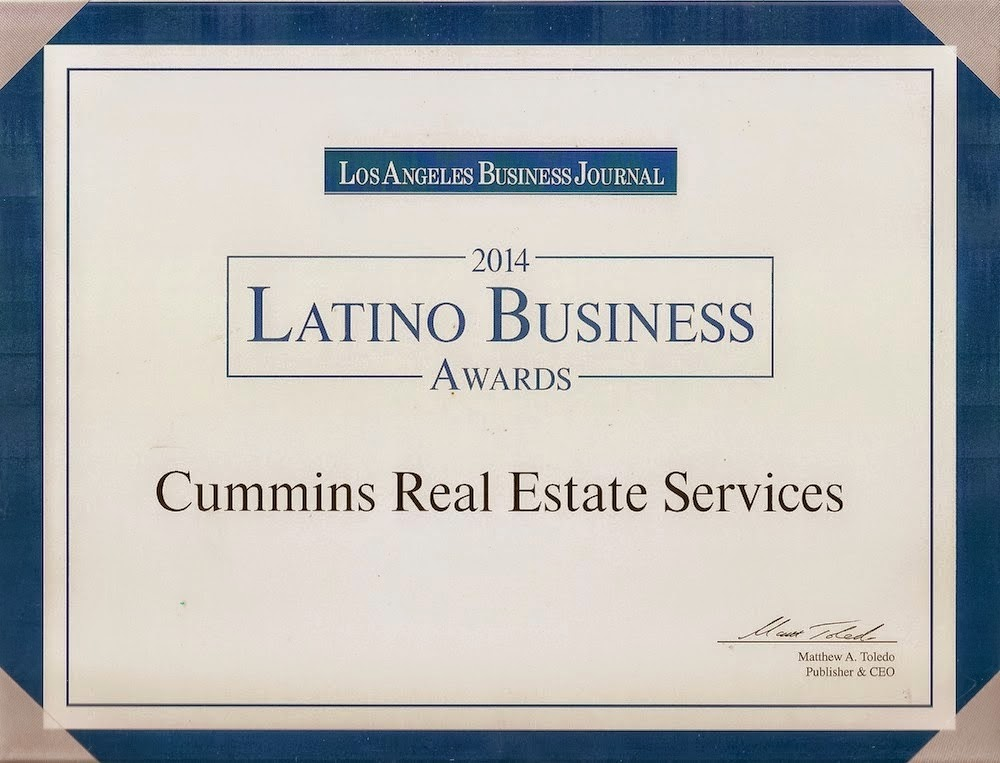 Mary Cummins Real Estate Appraiser Los Angeles California Award