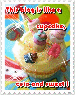 This blog is like a cupcake, cute and sweet!
