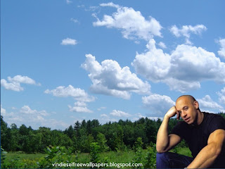 Desktop Wallpaper of Vin Diesel Thinking about new movie in Tropical Forest Sky Wallpaper