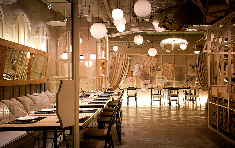 Loveisspeed restaurant influenced by an artist 39 s for Interior design studium